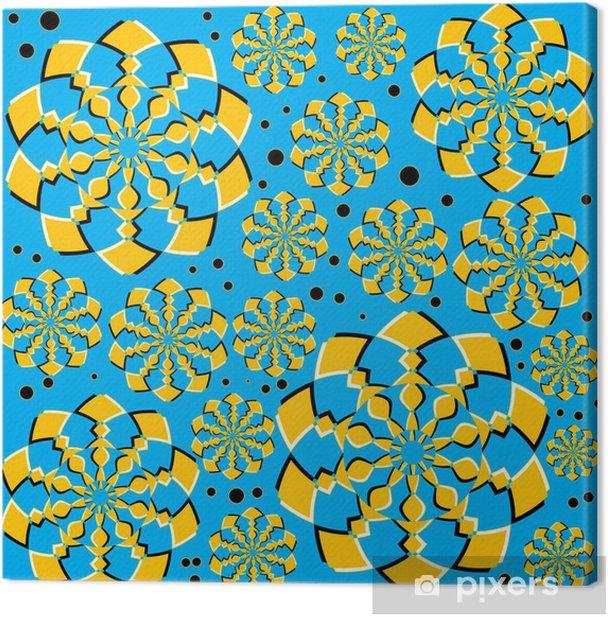 Tableau sur toile Orange Twirlers (illusion de mouvement) - Arrière plans