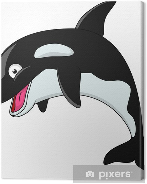 Tableau sur toile Orca dessin animé - Animaux marins