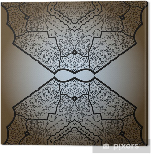 Tableau sur toile Oriental mandala motif - Moyen Orient