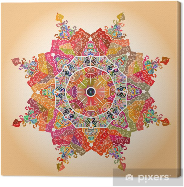 Tableau sur toile Oriental mandala motif -