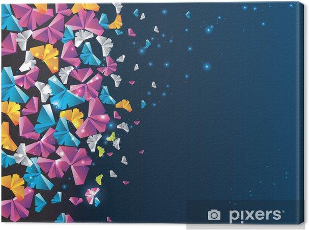 Tableau sur toile Origami fond abstrait. papillon de papier dans le ciel. - Autres sentiments