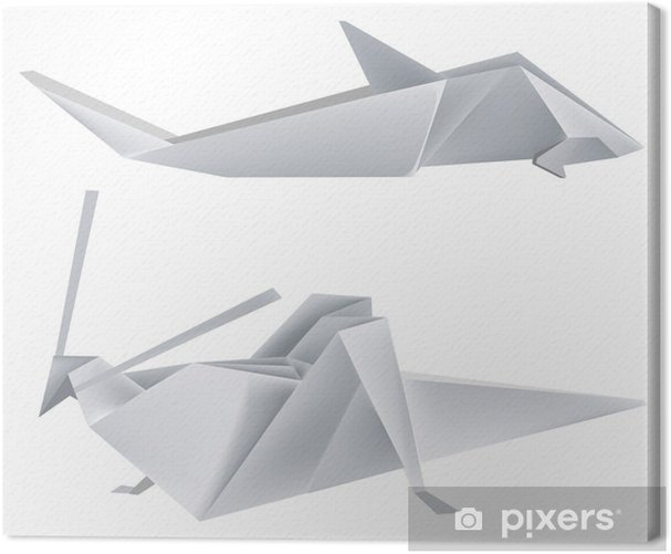Tableau sur toile Origami_grasshopper_shark - Autres Autres