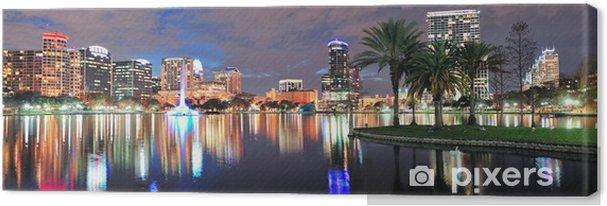 Tableau sur toile Orlando nuit panorama - Amérique