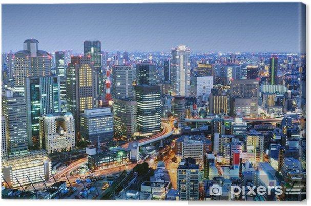 Tableau sur toile Osaka Japon Cityscape - Thèmes