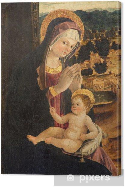 Tableau sur toile Padoue - peinture Madonna avec l'enfant par l'école Bellini - Thèmes