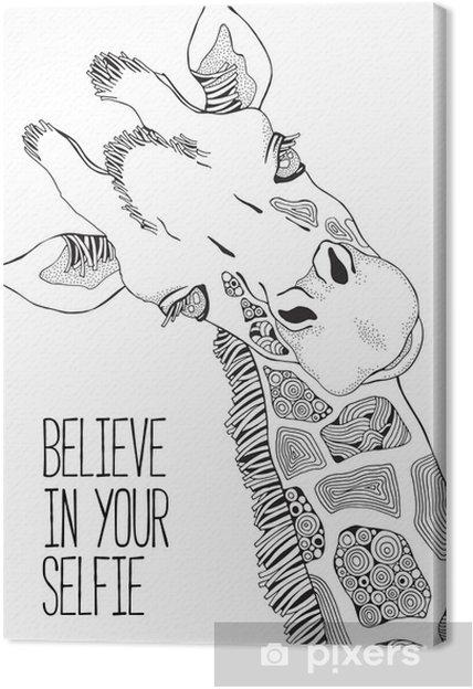 Coloriage Adulte Girafe.Tableau Sur Toile Page De Livre A Colorier Pour Adultes Et Enfants Girafe