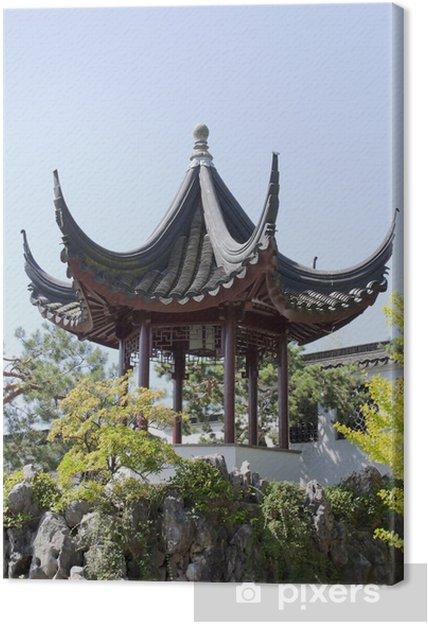 Tableau sur toile Pagode au Jardin de Chine - Asie