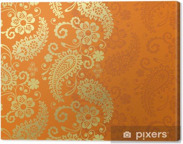 Tableau sur toile Paisley motif floral, textile, Rajasthan, Inde royale - Styles