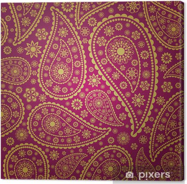 Tableau sur toile Paisley transparente - Thèmes