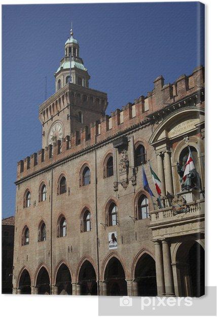 Tableau sur toile Palais communal de Bologne ou Palazzo d'Accursio - Propriétés privées