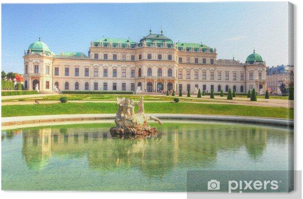 Tableau sur toile Palais du Belvédère à Vienne - Autriche - Europe