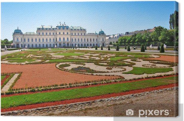 Tableau sur toile Palais du Belvédère à Vienne - Autriche - Villes européennes