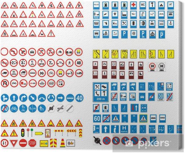 Tableau sur toile Panneaux routier - Signes et symboles