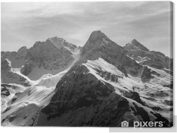 Tableau sur toile Panorama alpin - Vacances