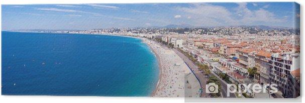 Tableau sur toile Panorama Côte d'Azur - Nice et sa plage - Vacances