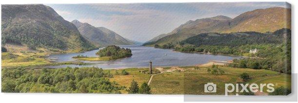 Tableau sur toile Panorama de la Monument Glenfinnan et Loch Shiel, en Écosse - Thèmes