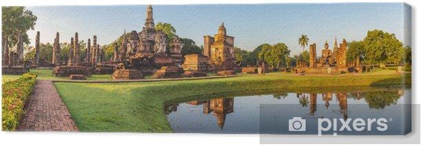 Tableau sur toile Panorama de Sukothai Historical Park - Thaïlande - Asie