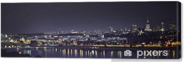 Tableau sur toile Panorama de Varsovie - Thèmes