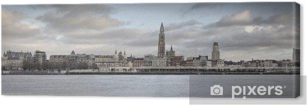 Tableau sur toile Panorama de ville d'Anvers (High res) - iStaging