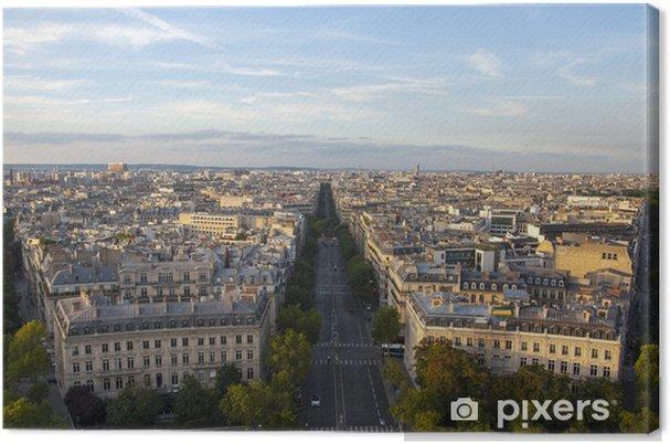 Tableau sur toile Panorama di Parigi - Francia - Villes européennes