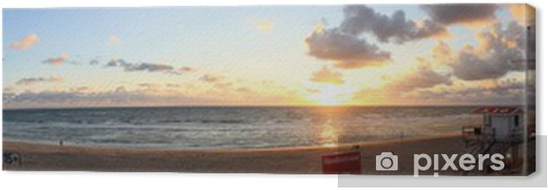 Tableau sur toile Panorama Rantumer Strand - Sylt / Panorama plage Rantum - Sylt - Vacances