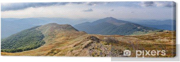 Tableau sur toile Panorama sur les Carpates montagnes - Panoramique