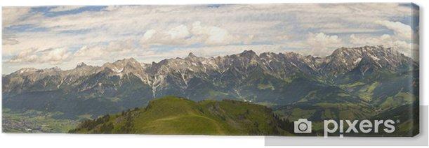 Tableau sur toile Panoramique autrichienne - Montagne