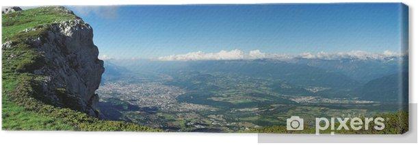 Tableau sur toile Panoramique - Vue sur la ville de Grenoble depuis le Vercors - Europe