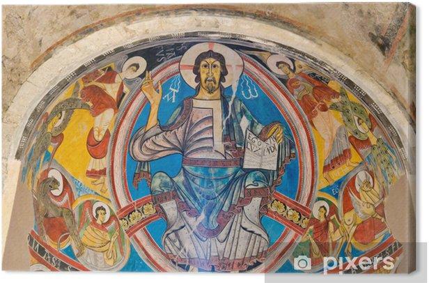 Tableau sur toile Pantocrator dans Sant Climent de frais, Catalogne Espagne - Europe