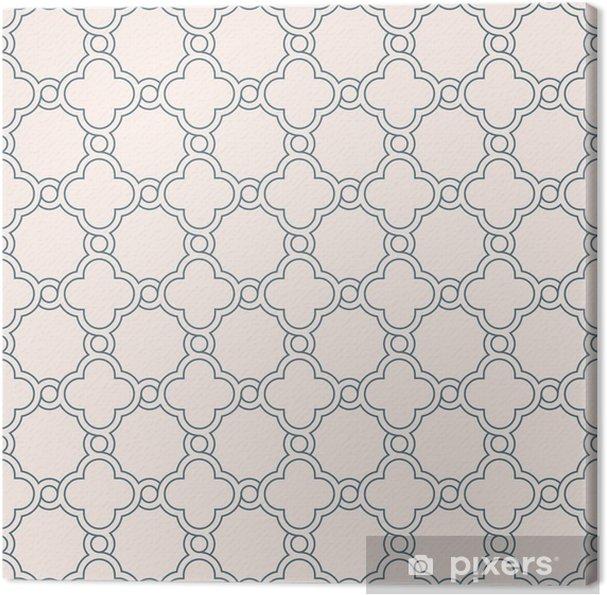 Tableau Sur Toile Papier Peint De Treillis Quadrilobe Geometrique
