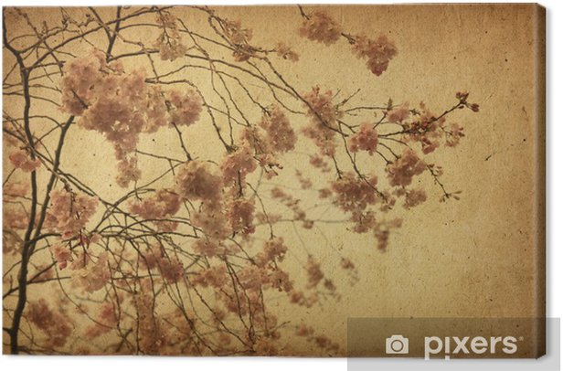 Tableau sur toile Papier vintage floral - Fleurs