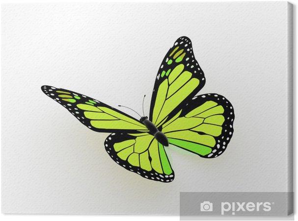 Tableau sur toile Papillon rendu jaune - Concepts