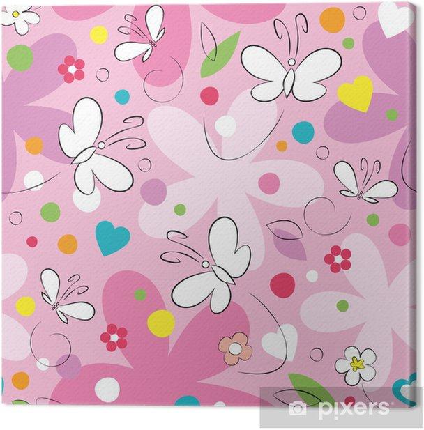 Tableau sur toile Papillons et des fleurs modèle - Styles