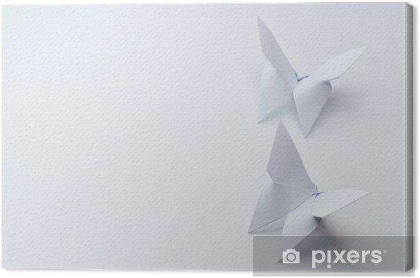 Tableau sur toile Papillons origami sur fond blanc - Passe-temps et loisirs