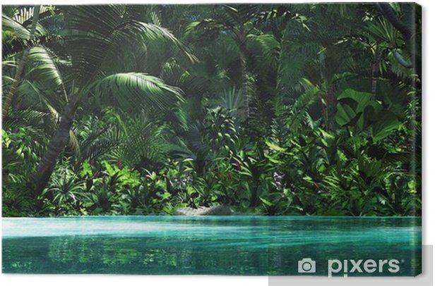 Tableau sur toile Paradis tropical - Jungle