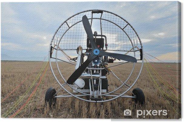 Tableau sur toile Paramotor - Dans les airs