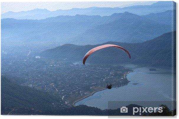 Tableau sur toile Parapente au Népal, un sport d'aventure - Sports extrêmes
