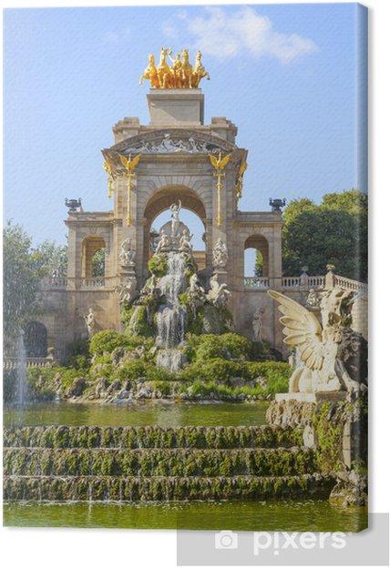 Tableau sur toile Parc de la Ciutadella à Barcelone - Thèmes