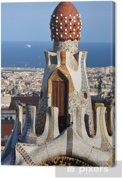 Tableau sur toile Parc Guell Barcelone - Villes européennes
