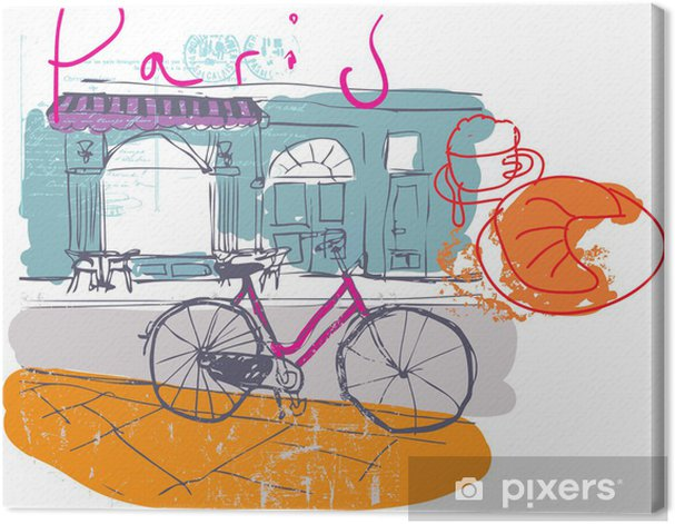 Tableau sur toile Paris cafe - Thèmes