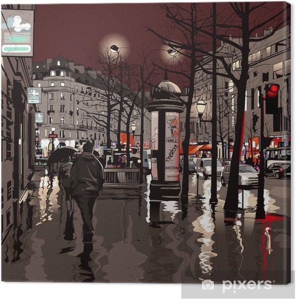 Tableau sur toile Paris la nuit - Thèmes