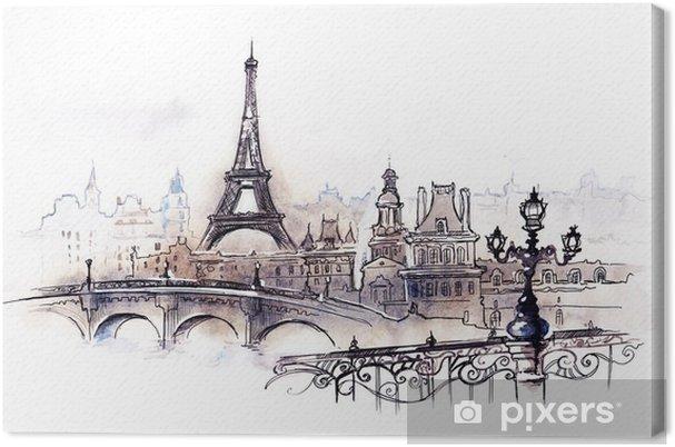 Tableau sur toile Paris (série C) - Styles