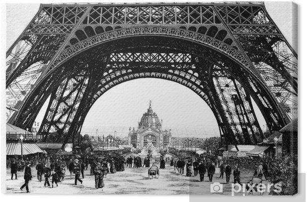Tableau sur toile Paris - Tour Eiffel - 19e siècle - Thèmes