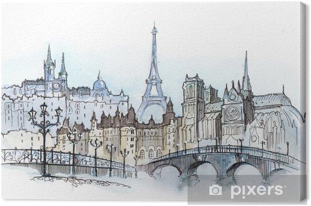 Tableau sur toile Parisiens - Thèmes