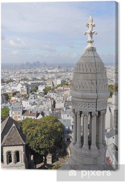 Tableau sur toile Parisiens - Villes européennes