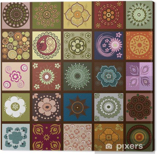 Tableau sur toile Paroi de fleurs - Arrière plans