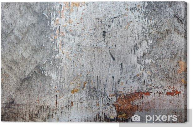 Tableau sur toile Paroi minable avec des fissures - Styles