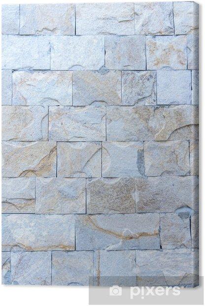 Tableau sur toile Partie abstraite d'une vieille clôture de pierre - Textures