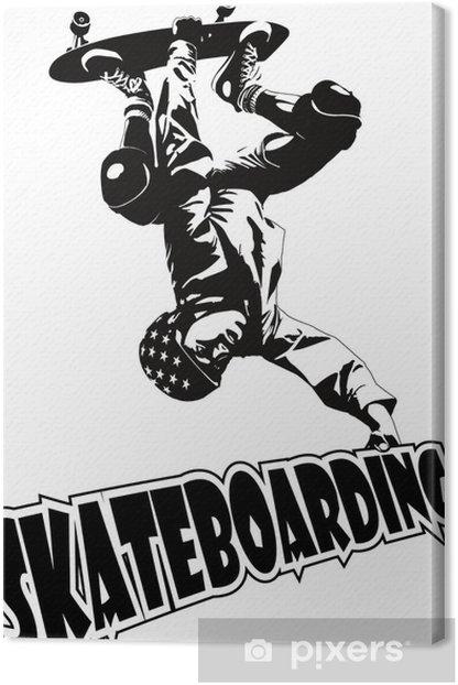 Tableau sur toile Patinage - Skateboarding