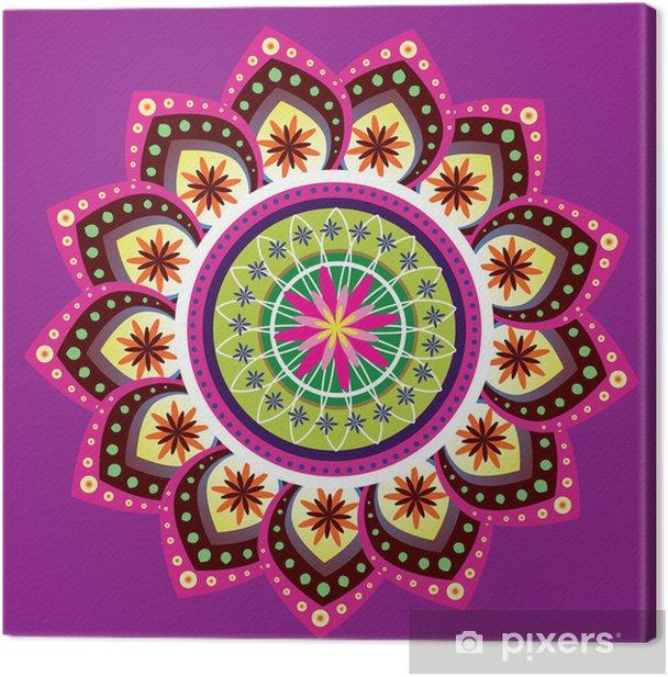 Tableau sur toile Patron indien coloré - Styles
